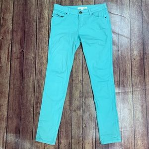 Life in Progress Turquoise Skinny Jeans
